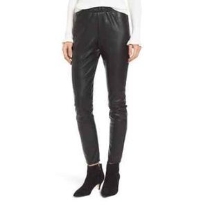 Cupcakes and Cashmere Faux Leather Leggings Black
